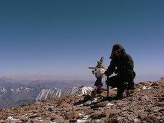 Rock Climbing Photo: Aconcagua Summit.
