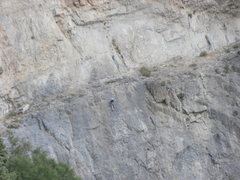 "Rock Climbing Photo: Climber near the anchors on ""Don't Cry Big Bi..."
