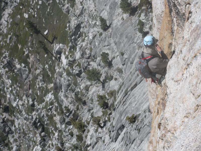 Rock Climbing Photo: On Charlotte Dome
