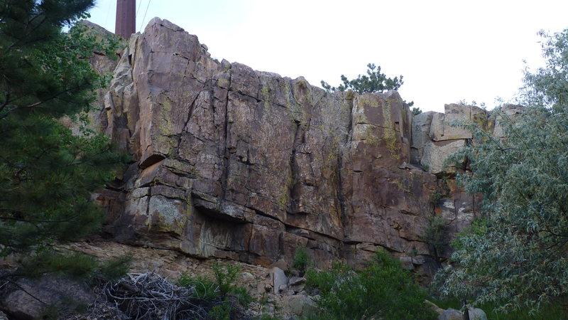 Rock Climbing Photo: Center Routes, 5.6 - 5.7.