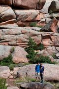 Rock Climbing Photo: With my friend, Seth (on the left) at Vedauwoo.  S...