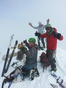 Rock Climbing Photo: So stoked to be up on the Grand skiing with a few ...