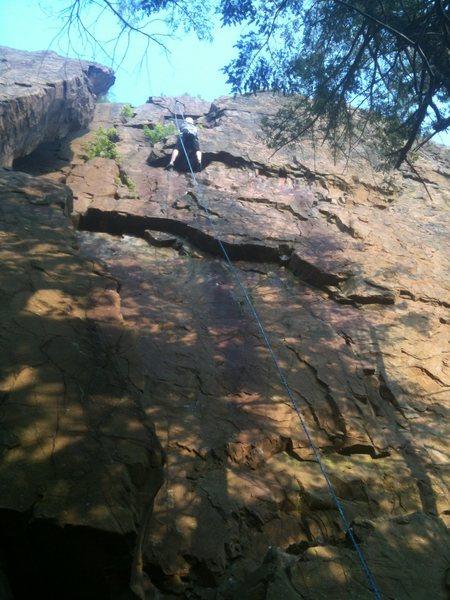 Rock Climbing Photo: Realm of the Senses pretty much follows the line o...