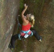 Rock Climbing Photo: hazel findlay on e7 from the odyssey