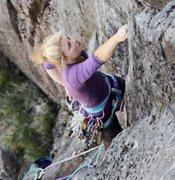 Rock Climbing Photo: hazel findlay e6 from the odyssey