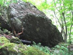 Rock Climbing Photo: Parlier on Patriot Arete