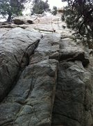 Rock Climbing Photo: I, Robot in the center. Fun finger locks at the to...
