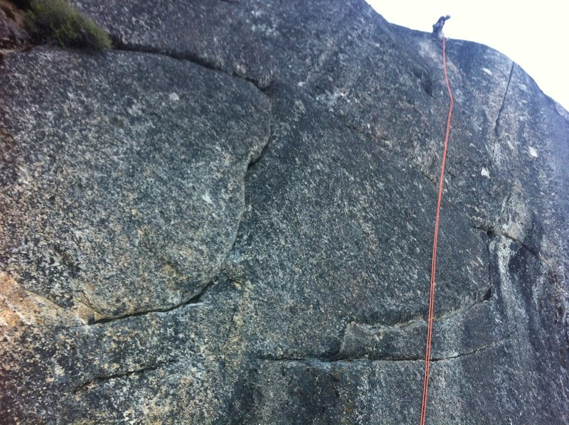 Rock Climbing Photo: Jeff about to descend Mr. Clean.  The route starts...