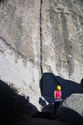 Rock Climbing Photo: Scoot: nice, short, relatively easy crack