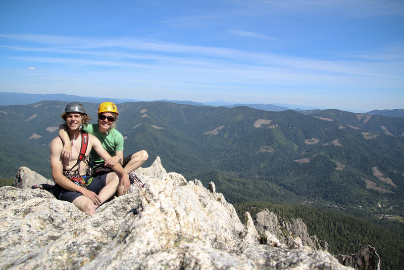 Rock Climbing Photo: Summit shot from the top of Mt. Hubris aka the Ogr...