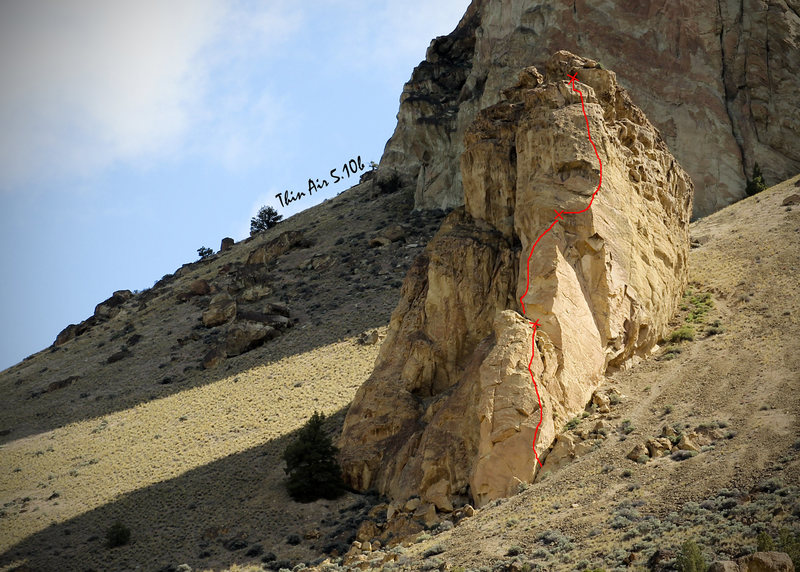 Rock Climbing Photo: Bolted variation start to Thin Air (5.10a) on Koal...