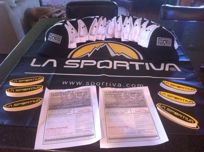 La Sportiva Prizes and Swag!!