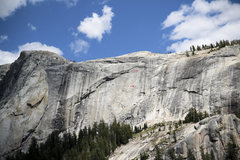 Rock Climbing Photo: Look for the red arrows. Climbers on Shagadelic af...