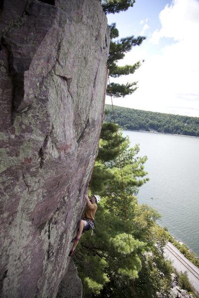 Rock Climbing Photo: John Pokallus on Cesearian Tower