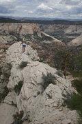 Rock Climbing Photo: Chossy ridge leading to summit, Left Fork of North...
