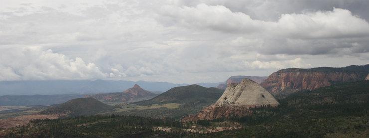 Looking west from summit across Kolob terraces