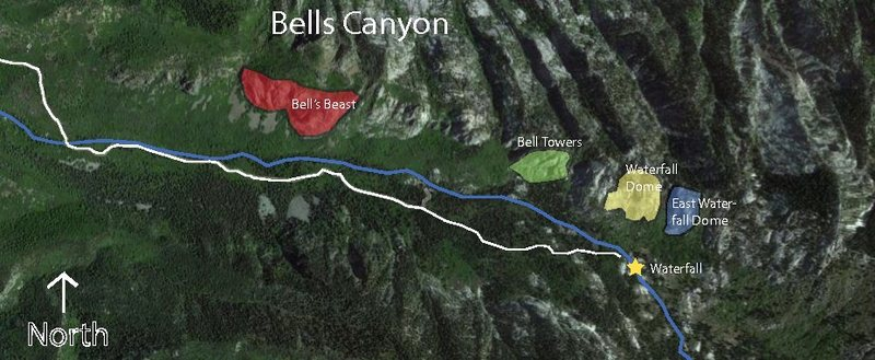 Rock Climbing Photo: Bells Canyon butresses