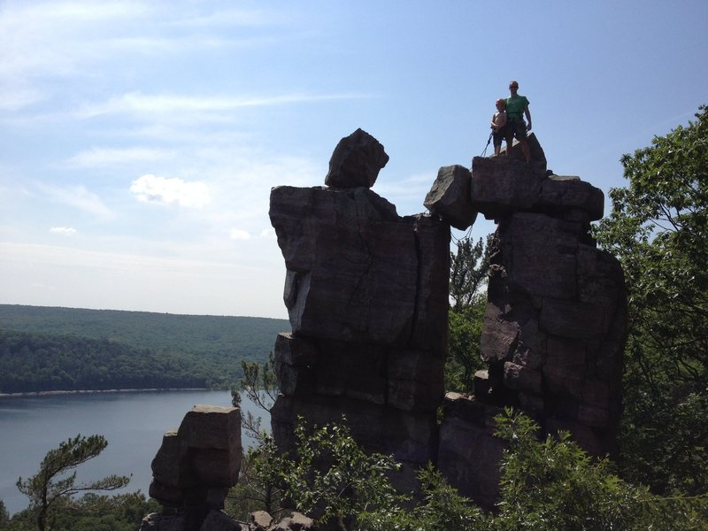 Rock Climbing Photo: Alex and I on top!