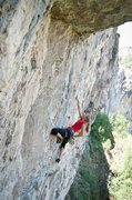 Rock Climbing Photo: Melissa contemplating the technical crux of Sans N...