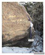 Rock Climbing Photo: Blob Boulder - Back Side