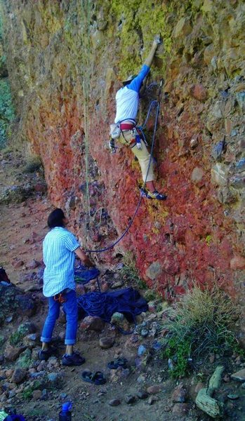 Rock Climbing Photo: Some real colorful rock