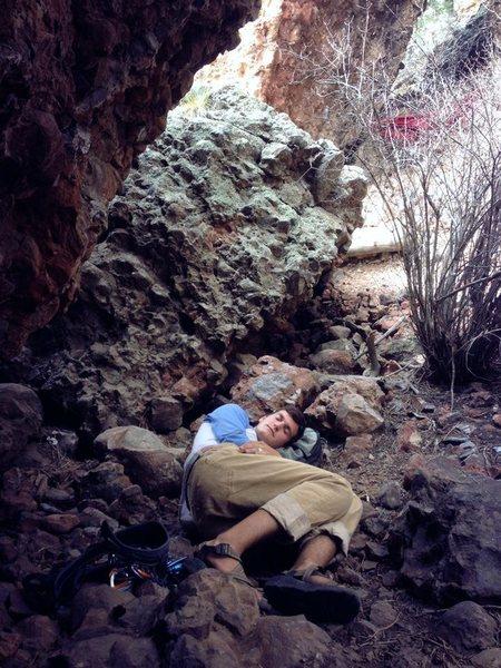 Rock Climbing Photo: getting a siesta
