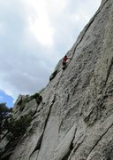 Rock Climbing Photo: Max, over the initial difficulties and on cruise c...