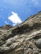 Rock Climbing Photo: Hunt Prothro in the heat(stroke) of the moment. In...