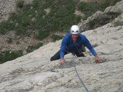 Rock Climbing Photo: Lynn on pitch 3.