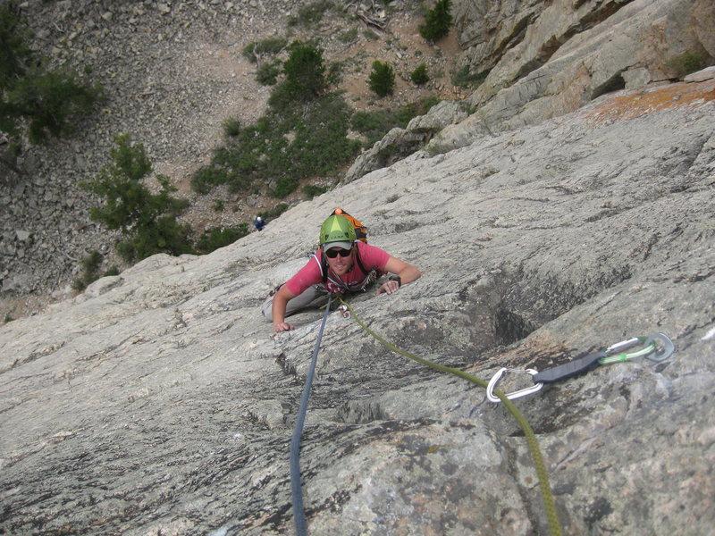 Rock Climbing Photo: Taylor on P3!