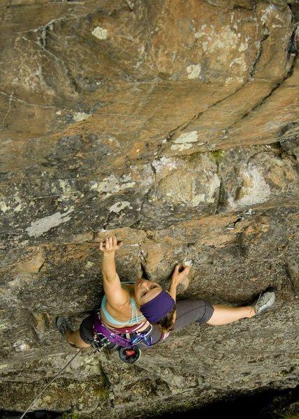Rock Climbing Photo: A fun sport climb at Greenlaw