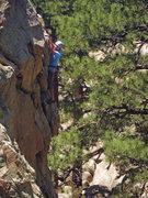 Rock Climbing Photo: Fred near the top.