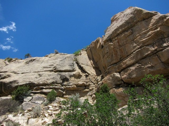 Rock Climbing Photo: Spring Canyon looking at the Volkswagon Wall.  Lie...