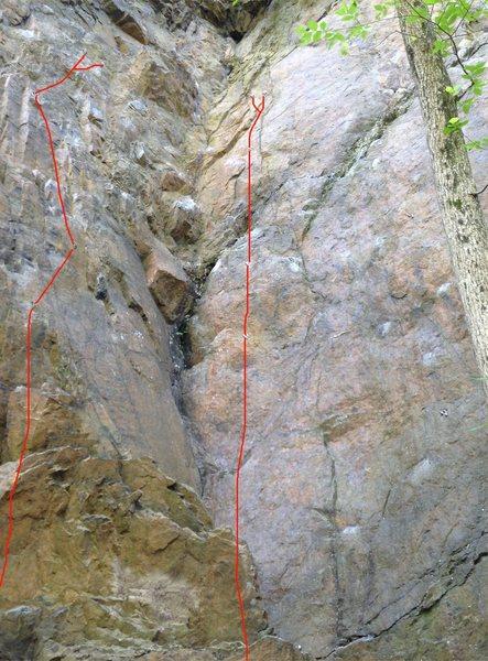 Arocknophobia (left), <br> Balls Deep (right)