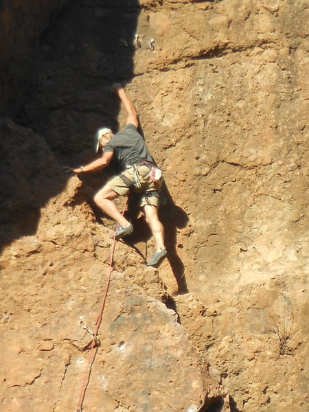 Rock Climbing Photo: Here's the climber leading up to the anchors on Ca...