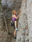 "Rock Climbing Photo: Starting up the opening moves of ""Miss Pacman..."