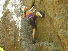 "Rock Climbing Photo: Enjoying the shade of the Grotto, on ""Stinger..."