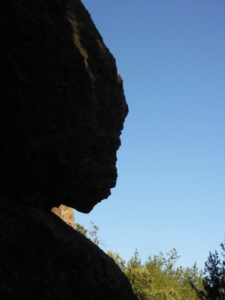 """The silhouette of """"Mirror of Erised"""" in the Grotto."""
