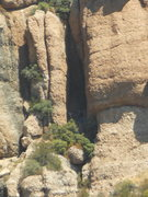Rock Climbing Photo: That dark slot at the eastern end of Echo Cliffs i...