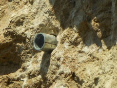 Rock Climbing Photo: Looks like the bolts and hangers got pulled on the...