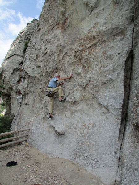 Rock Climbing Photo: Starting Rollercoaster on the West Face of Bath Ro...