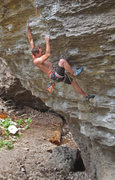 Rock Climbing Photo: Some good holds after  the cruxy crimps on Crimp C...