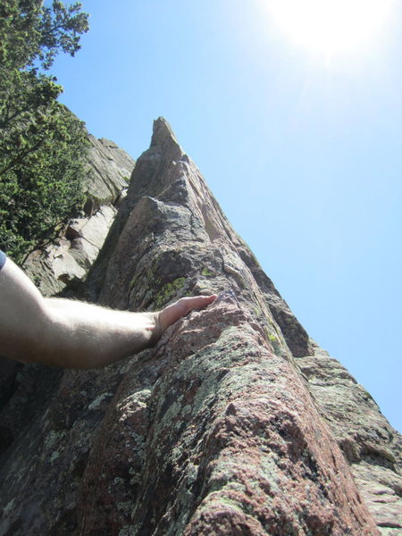 Rock Climbing Photo: Looking up at the spectacular arete