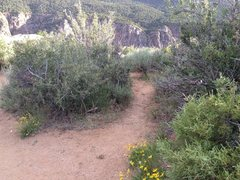 Rock Climbing Photo: The trail turn just meters before the overlook and...