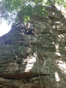Rock Climbing Photo: Shot of the route. You're in the right spot when y...