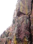 Rock Climbing Photo: AMH through the crux, but still in sustained groun...
