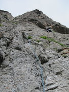 Rock Climbing Photo: Mackenzie leading the 4th pitch