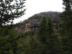 Rock Climbing Photo: Swift Current through the trees