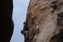 Rock Climbing Photo: The long reach...