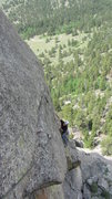 Rock Climbing Photo: Will following the third pitch.